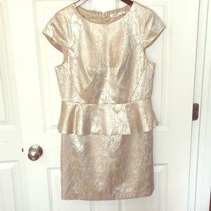 Kensie ✨ - Champagne Peplum Dress